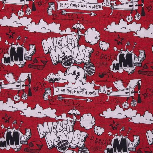 Disney-Mickey Maus  Sweat  angeraut Retro Design rot