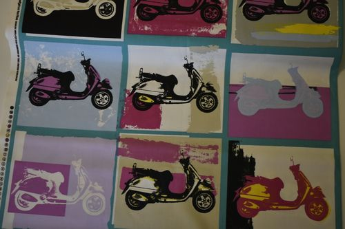 Retro Vespa, Canvas, pink, türkis, flieder