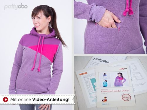 Freestyle Hoodie Nelly PAPIERSCHNITTMUSTER