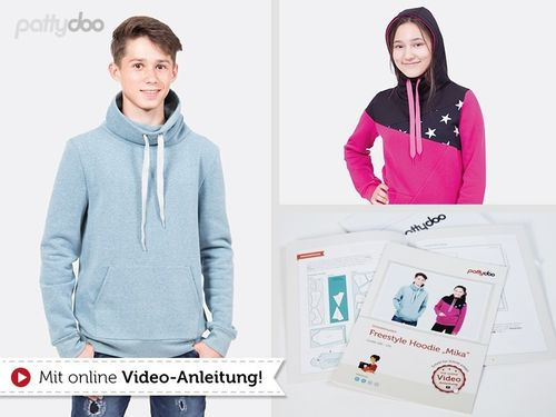 Pattydoo Freestyle Hoodie  Mika PAPIERSCHNITTMUSTER